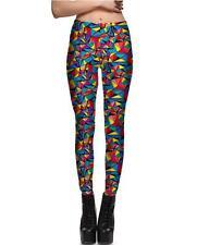 Women legging Bird Colorful Geometry printed S-4XL legging Slim elastic 5
