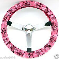 Handmade Steering Wheel Cover Pink Paris Design