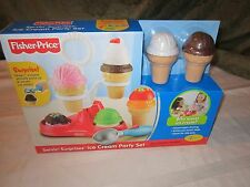 Fisher Price Servin Surprises Serving Fun Food Ice Cream Party Set Scooper Cone