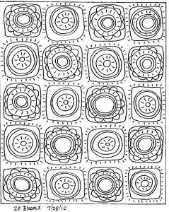 RUG HOOKING Craft PAPER PATTERN 20 Blooms FOLK ART PRIM Abstract Karla Gerard