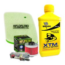 Kit tagliando Bardahl XTM 5W40 filtro olio aria candela iridio Leonardo 125/150