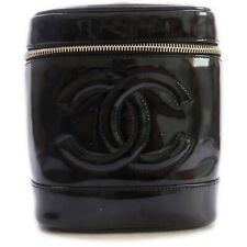 CHANEL Vanity Bag COCO Black Enamel 711677