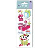 Christmas Gift Giving Presents Gifts Puppy Ring Ribbons Tags Jolee's 3D Stickers