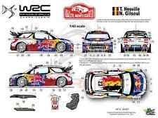 [FFSMC Productions] Decals 1/43 Citroën DS3 WRC Neuville Monte-Carlo 2012