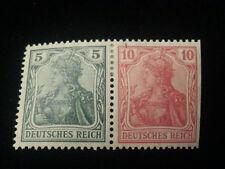 Deutsches Reich - ZD Zusammendrucke Germania  5 Pf + 10 Pf