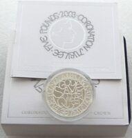 2003 Royal Mint Coronation Jubilee £5 Five Pound Silver Proof Coin Box Coa