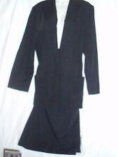 2 PC Radcliffe Suit Outfit Black Calf Length Skirt & Blazer  EC Size 16