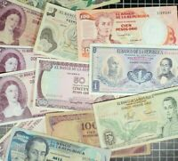 COLOMBIA Bank Note lot of 12 World Foreign World Currency Latin America Peso