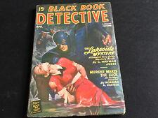 Black Book Detective Pulp April 1947 Black Bat Cover