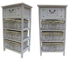 Maize Basket Unit 4 Drawer Storage Cabinet Bathroom Hallway Bedside Vintage
