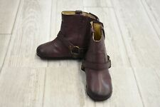 **Frye Kids Leather Harness Booties, Toddler Girl's Size 3, Plum
