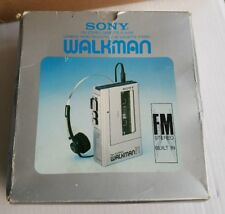 ORIGINAL BOX Vintage Sony Walkman F1 Portable Stereo Cassette Player Model WM-F1