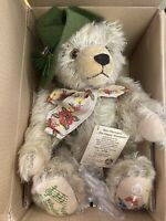 "Max Hermann ""The Happy Wanderer"" Musical Mohair Bear 100th Birthday Ltd Ed."