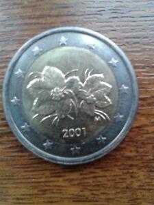 pièce neuve 2,00 euros normale finlande 2001
