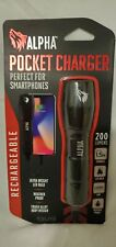 Alpha Pocket Charger- Weather-Resistant Led Flashlight & Portable Device Charger