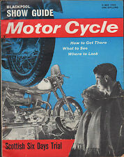 THE MOTORCYCLEBLACKPOOL SHOW GUIDE  COVER 9 MAY 1963