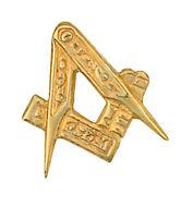 Alfiler para Corbata Masónico Pin Oro Amarillo Hecho a Orden en Quarter B ' Ham