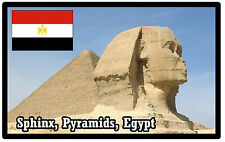SPHINX, PYRAMIDS, EGYPT - SOUVENIR NOVELTY FRIDGE MAGNET - BRAND NEW - GIFT