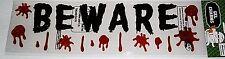 Halloween Window Gel Beware with Dripping Blood