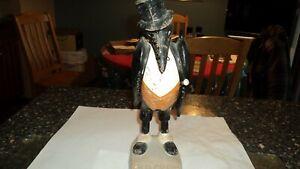 Old Crow Kentucky Whiskey Frankfort KY Fiberglass Back Bar Figure 1930s