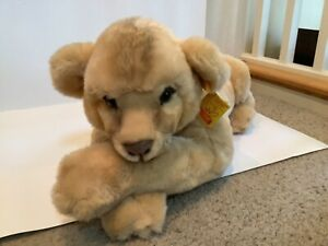 """Vintage Steiff SUPER MOLLY Lion Lying 0382/60, Retired, 24"""""""