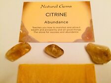 3 Citrine GEMSTONES Attracts Money and Abundance Chakra Reiki.