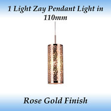 Zay 1 Light Modern Feature Pendant Light in Rose Gold Finish
