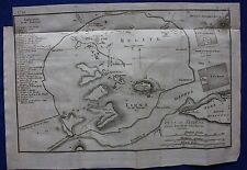 Original antique map PLAN OF ATHENS, GREECE, Barbie du Bocage, 1796