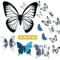 3D Mirror Butterfly Decal Wall Sticker DIY Removable Art Mural Home Room Decor