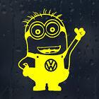 VW Logo Badge Minion Volkswagen Car Decal Vinyl Sticker