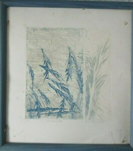 Old Vintage 1988 Signed Print Rois Du Forets by Lucie Fournier Numbered 4/4