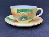 **Set Of 3 Vintage Made in Japan Hand Painted Tea Cup and Saucer Set**