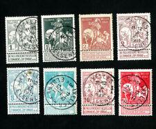 Belgium Stamps # B1-8 Vf Used Catalog Value $23.95