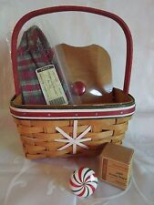 Longaberger~2009 ~Rare~Holiday Helper Treats Basket 4 Piece Combo~Brand New!