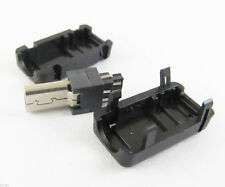 1set Mini USB 8Pin Male Plug Socket Connector With Plastic Cover for DIY