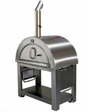 """XL Size Wood Fired Outdoor Stainless Steel Pizza Oven BBQ Grill 44"""" Wide"""