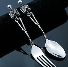Exaggerated Skull Skeleton Cutlery Stainless Steel Tableware Fork Spoon Set