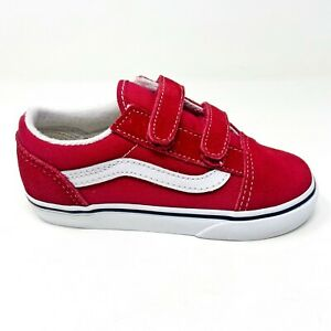 Vans Old Skool V Racing Red True White Baby Toddler Shoes