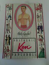 Ken Nostalgie Paper Doll Collection The Peck-Gandre 1989 Vintage Barbie