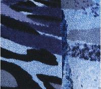Attitudes by Renee Como Jersey Asymmetric Duster,Navy Print,Size 2X