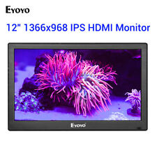 "12"" HDMI TV Monitor with TV/HDMI/VGA/AV/USB to BNC Input for PC CCTV Camera DVD"