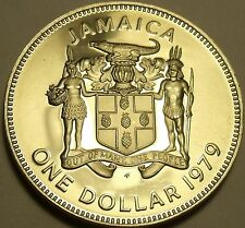 Rare Cameo Proof Jamaica 1979 Dollar~Only 4,049 Ever Minted~Prime Minister~Fr/Sh