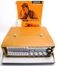 Vintage UHER Model 4000 Report-S Reel to Reel Tape Player Recorder 1960s Germany