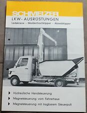 SCHMELZER LKW-Ausrüstungen Daimler Benz PROSPEKT BROCHURE CATALOGUE ORIGINAL