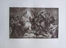 Schlacht und Tod - Kupfertiefdruck Kunstdruck 1923 Rubens