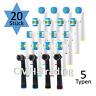 Aufsteckbürsten SET kompatibel mit Oral-B Zahnbürstenaufsätze, 20 Stück Aufsätze