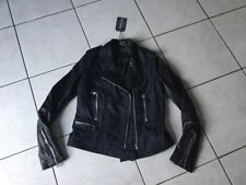 blouson,Veste jean/cuir perfecto KAPORAL taille XS Neuf
