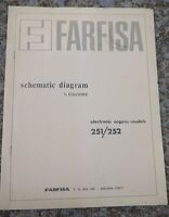 Farfisa Electronic Organ Models 251/252 Schematic Diagrams
