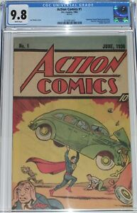 Action Comics #1 CGC 9.8 Superman Peanut Butter Promotional from 1983 + extras