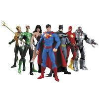 7Pcs Justice League Superman Batman Flash Aquaman DC Universe Action Figure Toys